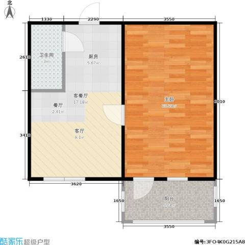 曙光新村1室1厅1卫0厨49.00㎡户型图
