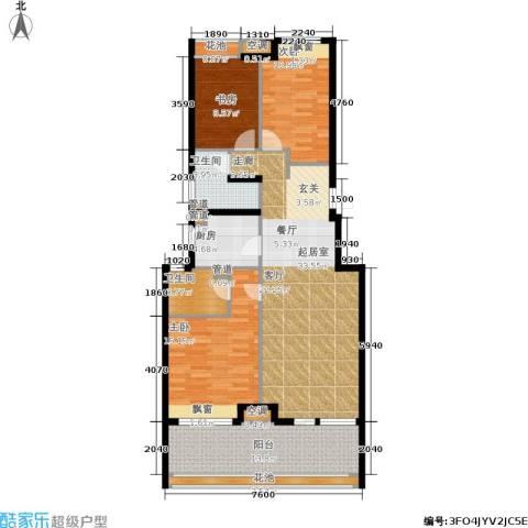 金地自在城3室0厅2卫1厨111.00㎡户型图