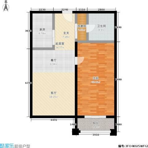 明发商业广场1室0厅1卫1厨93.00㎡户型图