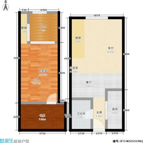 明发商业广场1室0厅1卫1厨70.00㎡户型图