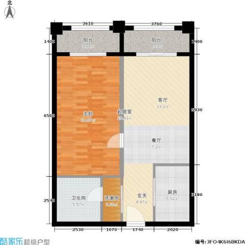 明发商业广场1室0厅1卫1厨77.00㎡户型图