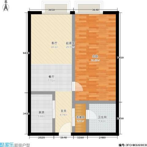 明发商业广场1室0厅1卫1厨73.00㎡户型图