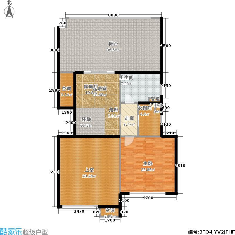 金地自在城137.00㎡三期8+1F中间套上层户型