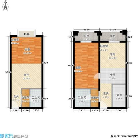 明发商业广场1室0厅2卫1厨106.08㎡户型图