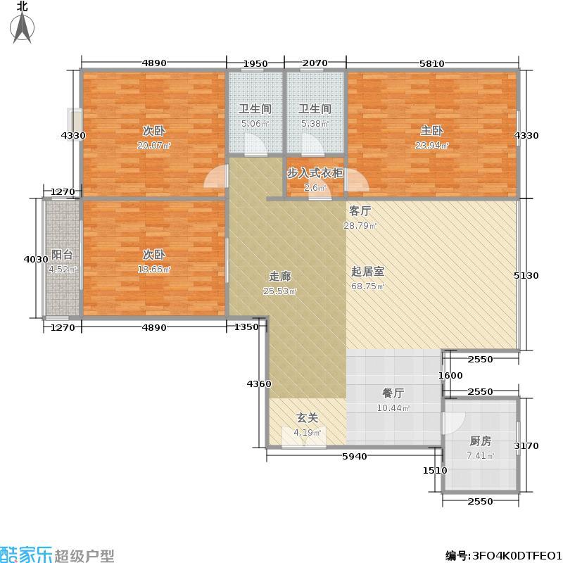 罗马公寓165.00㎡面积16500m户型