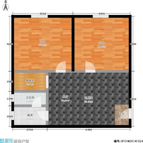 二圣庙巷2室0厅1卫1厨79.00㎡户型图