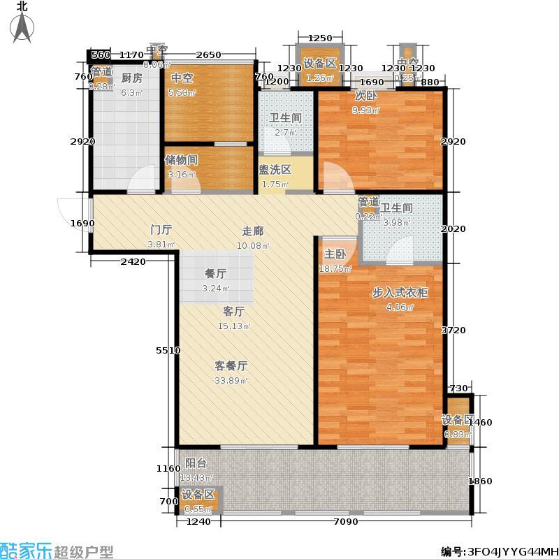 金地自在城110.00㎡四期尚层别院5号楼标准层B2-2户型
