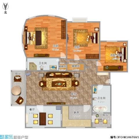 白玉兰馨园2室2厅2卫1厨166.00㎡户型图