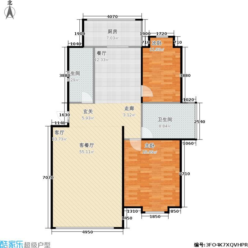 东华苑户型2室1厅2卫1厨