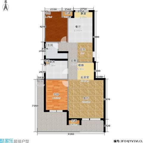 金地自在城2室0厅1卫1厨128.00㎡户型图