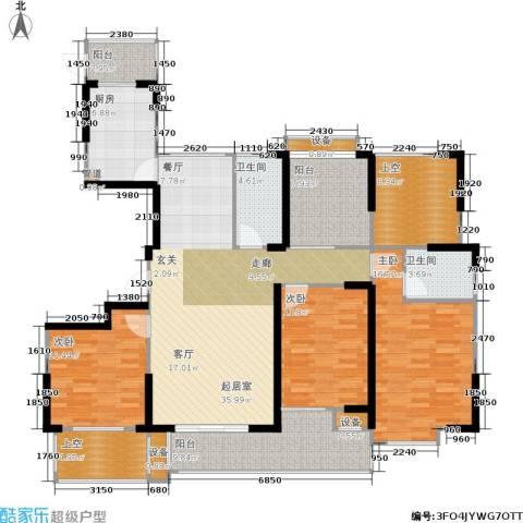 橘郡3室0厅2卫1厨143.00㎡户型图
