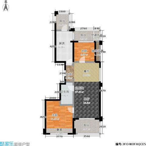 中企御品湾2室0厅1卫1厨89.00㎡户型图