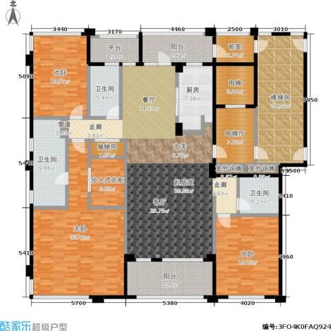 中企御品湾3室0厅3卫1厨223.79㎡户型图