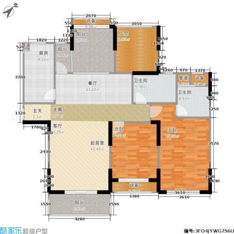 橘郡2室0厅2卫1厨135.00㎡户型图