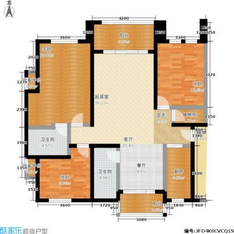 星星港湾清风苑3室0厅2卫1厨131.00㎡户型图