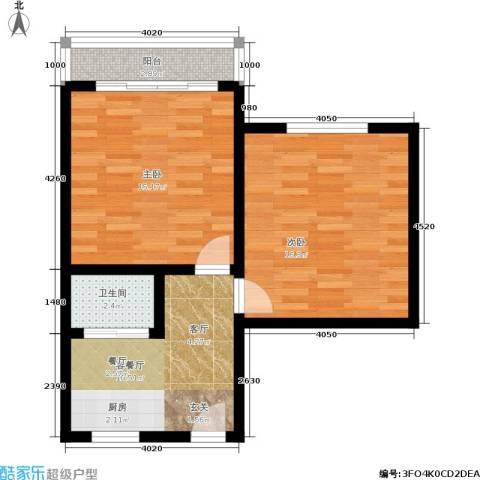 花园铁路新村2室1厅1卫0厨55.00㎡户型图