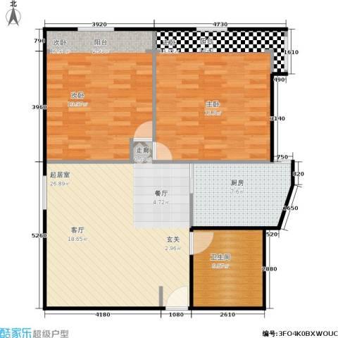 东园大楼2室0厅1卫1厨83.00㎡户型图
