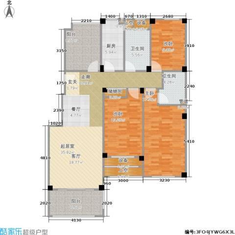 橘郡3室0厅2卫1厨125.00㎡户型图