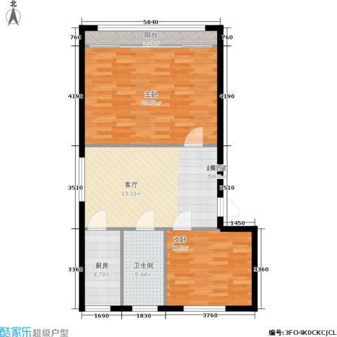 采荷青荷苑2室0厅1卫1厨70.00㎡户型图