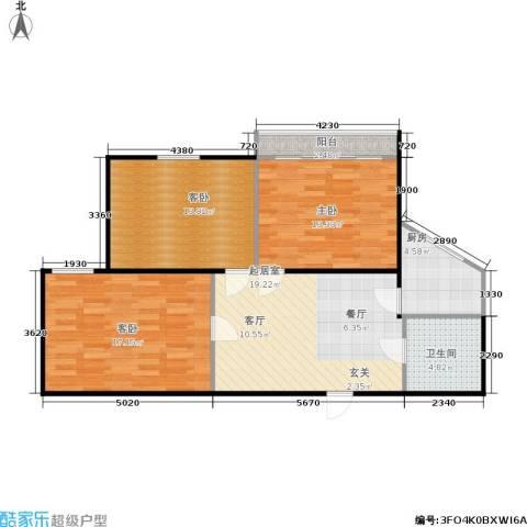 东园大楼3室0厅1卫1厨81.00㎡户型图