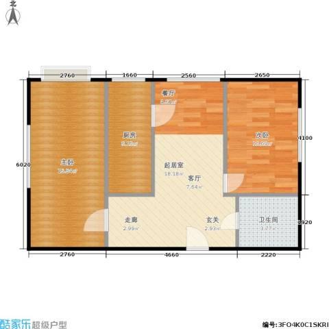 思安坊2室0厅1卫1厨58.00㎡户型图