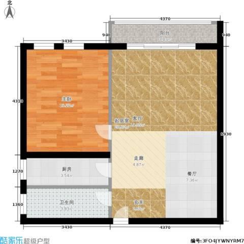 圆梦园1室0厅1卫1厨58.00㎡户型图