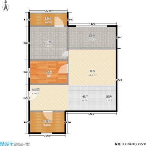 东园大楼2室0厅1卫0厨62.00㎡户型图