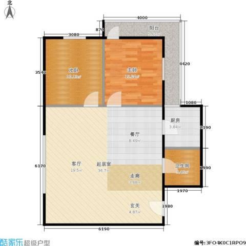 思安坊2室0厅1卫1厨75.00㎡户型图