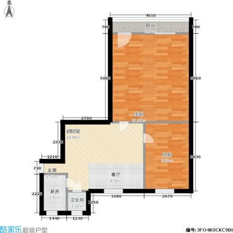 采荷青荷苑2室0厅1卫1厨61.00㎡户型图