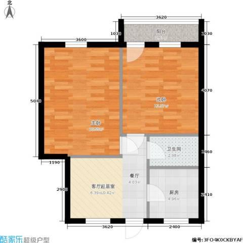 采荷青荷苑2室0厅1卫1厨57.00㎡户型图