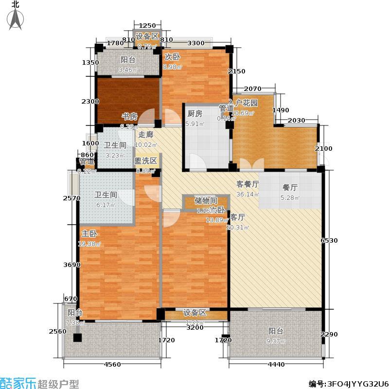 金地自在城149.00㎡三期拾院3#楼标准层C2-3户型