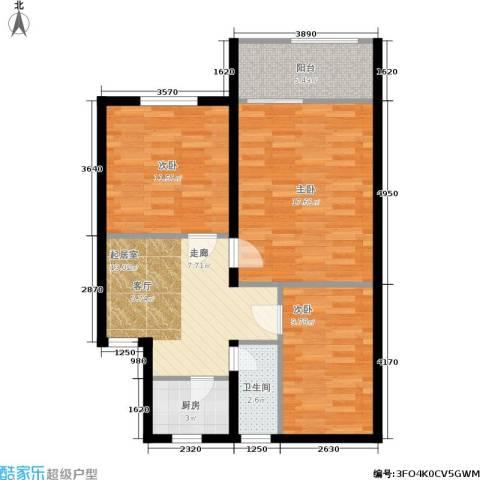 静怡花苑3室0厅1卫1厨71.00㎡户型图