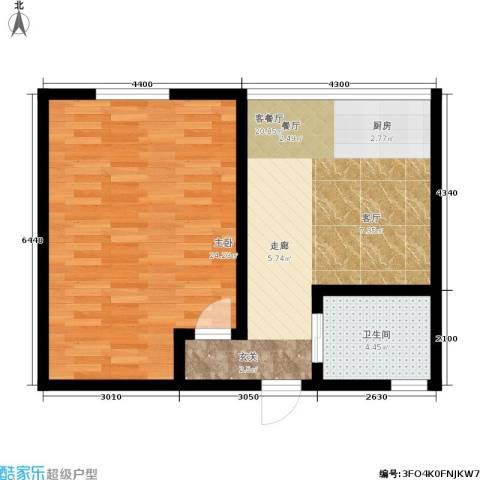 景芳三区1室1厅1卫0厨56.00㎡户型图