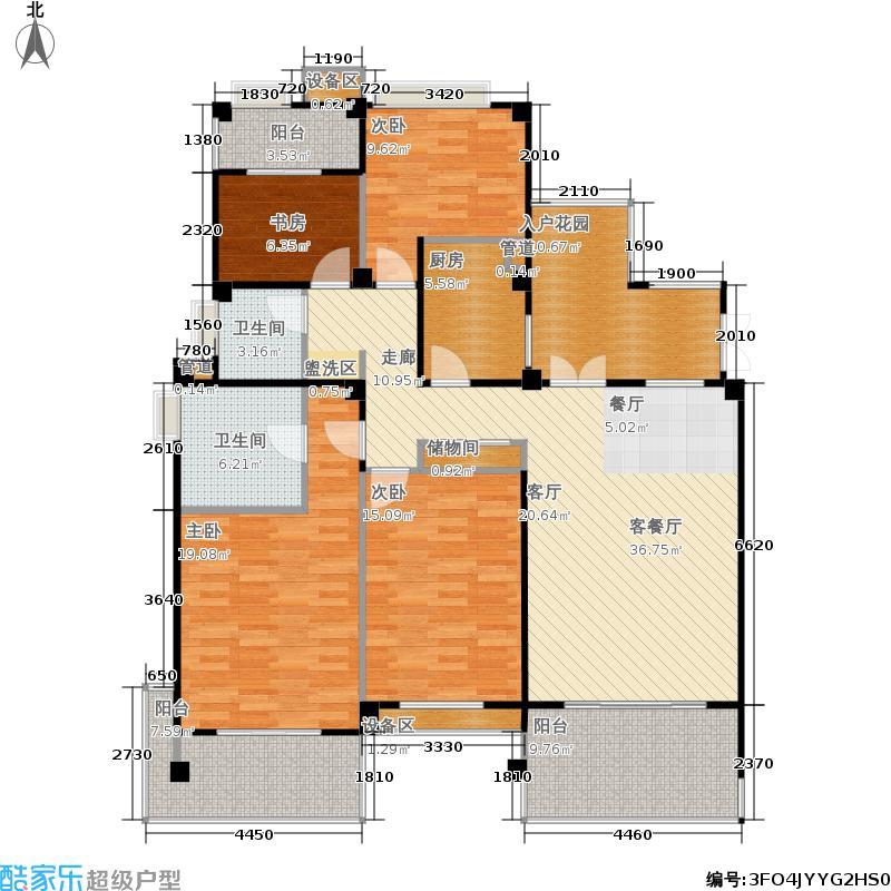 金地自在城149.00㎡四期1-4幢标准层C2-3'户型
