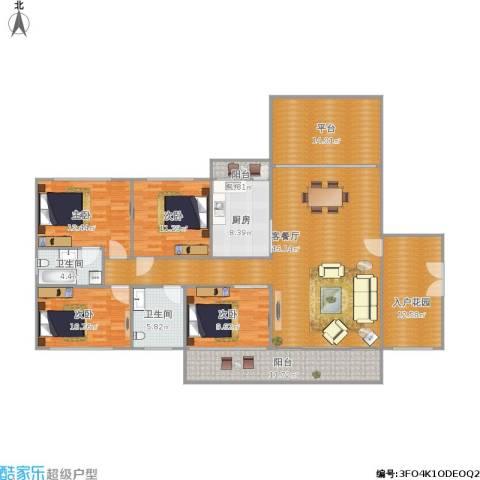 君华新城4室1厅2卫1厨200.00㎡户型图