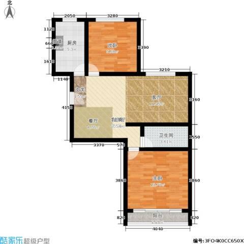 东华苑2室1厅1卫1厨70.00㎡户型图