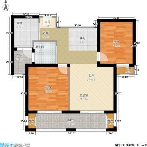 东都公寓2室0厅1卫1厨110.00㎡户型图