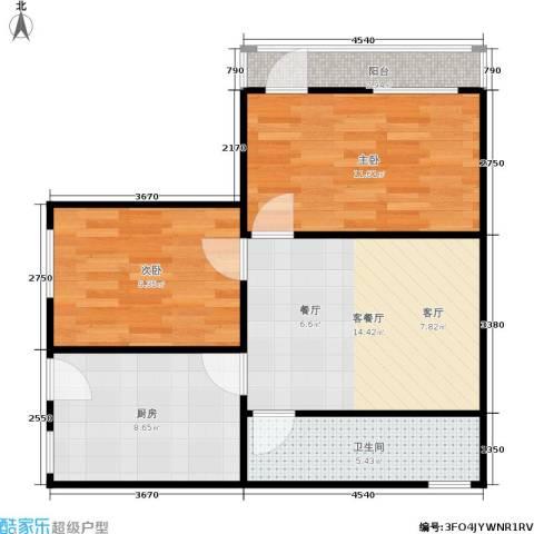 采荷芙蓉2室1厅1卫1厨57.00㎡户型图