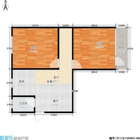 采荷芙蓉2室1厅1卫0厨60.00㎡户型图