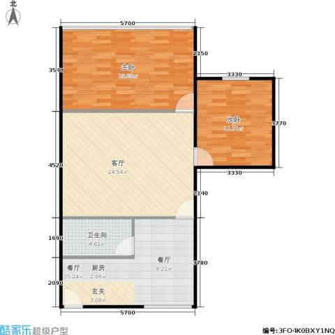 东园大楼2室2厅1卫0厨80.00㎡户型图