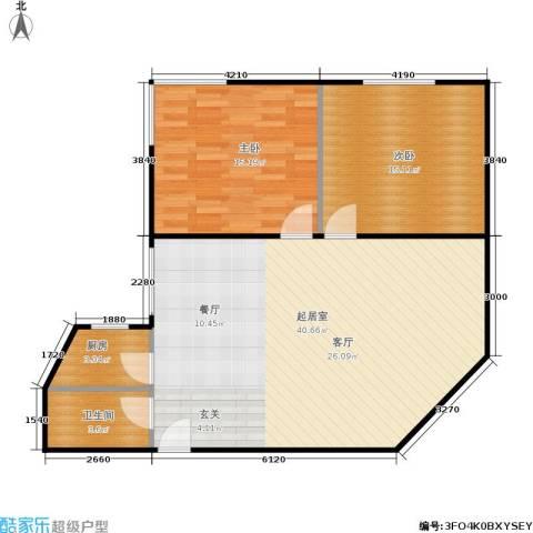 东园大楼2室0厅1卫1厨82.00㎡户型图
