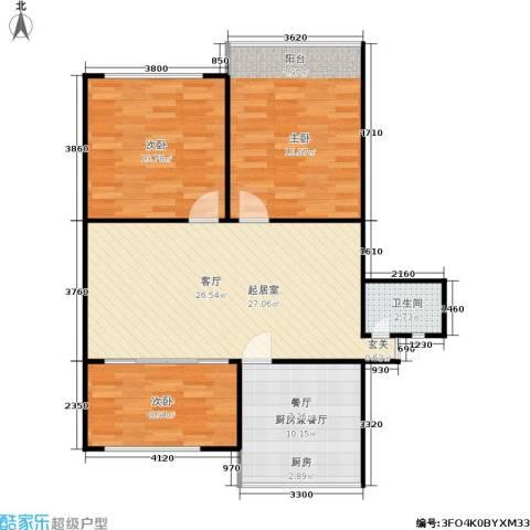施家桥3室0厅1卫0厨84.00㎡户型图