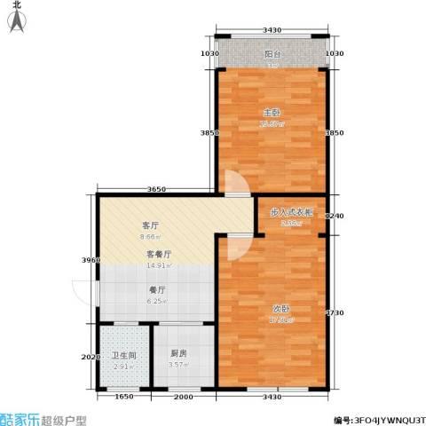 采荷芙蓉2室1厅1卫1厨59.00㎡户型图