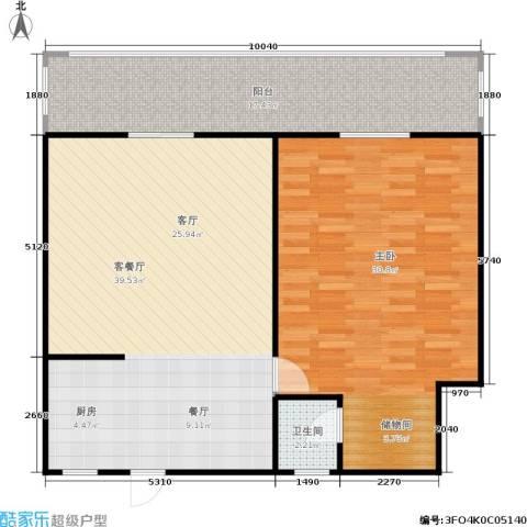 邮政职工公寓1室1厅1卫0厨95.00㎡户型图