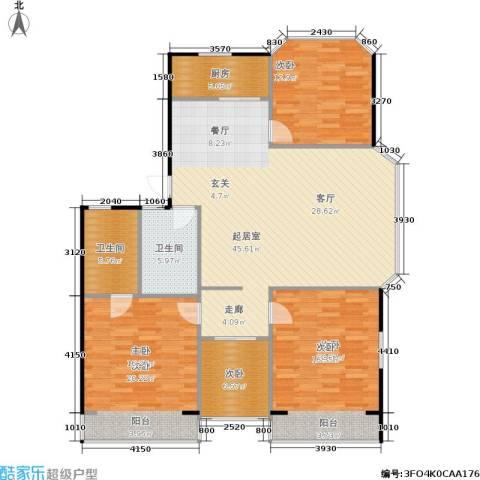 延龄苑4室0厅2卫1厨130.00㎡户型图
