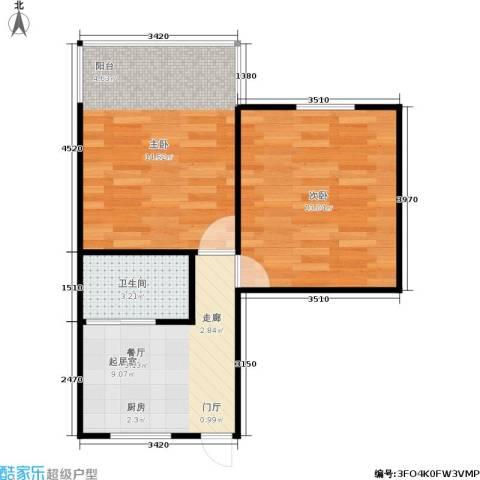 闸弄口新村2室0厅1卫0厨43.00㎡户型图