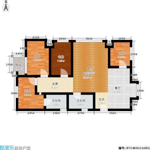 中海・金溪园4室0厅2卫0厨88.00㎡户型图