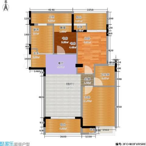上东臻品3室1厅1卫1厨104.00㎡户型图