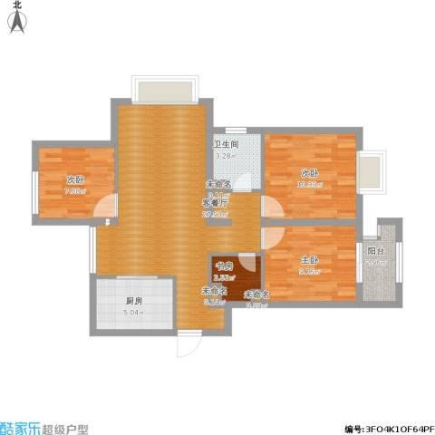 阿卡迪亚・花境4室1厅1卫1厨99.00㎡户型图