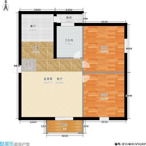 静怡花苑2室0厅1卫1厨78.00㎡户型图